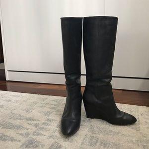 Loeffler Randall Wedge Knee High Boots
